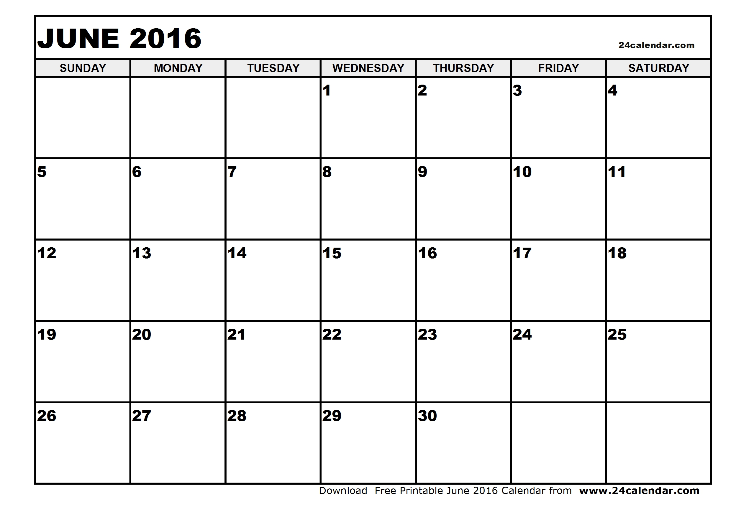 Blank june calendar clipart graphic black and white June 2016 calendar clipart - ClipartFest graphic black and white