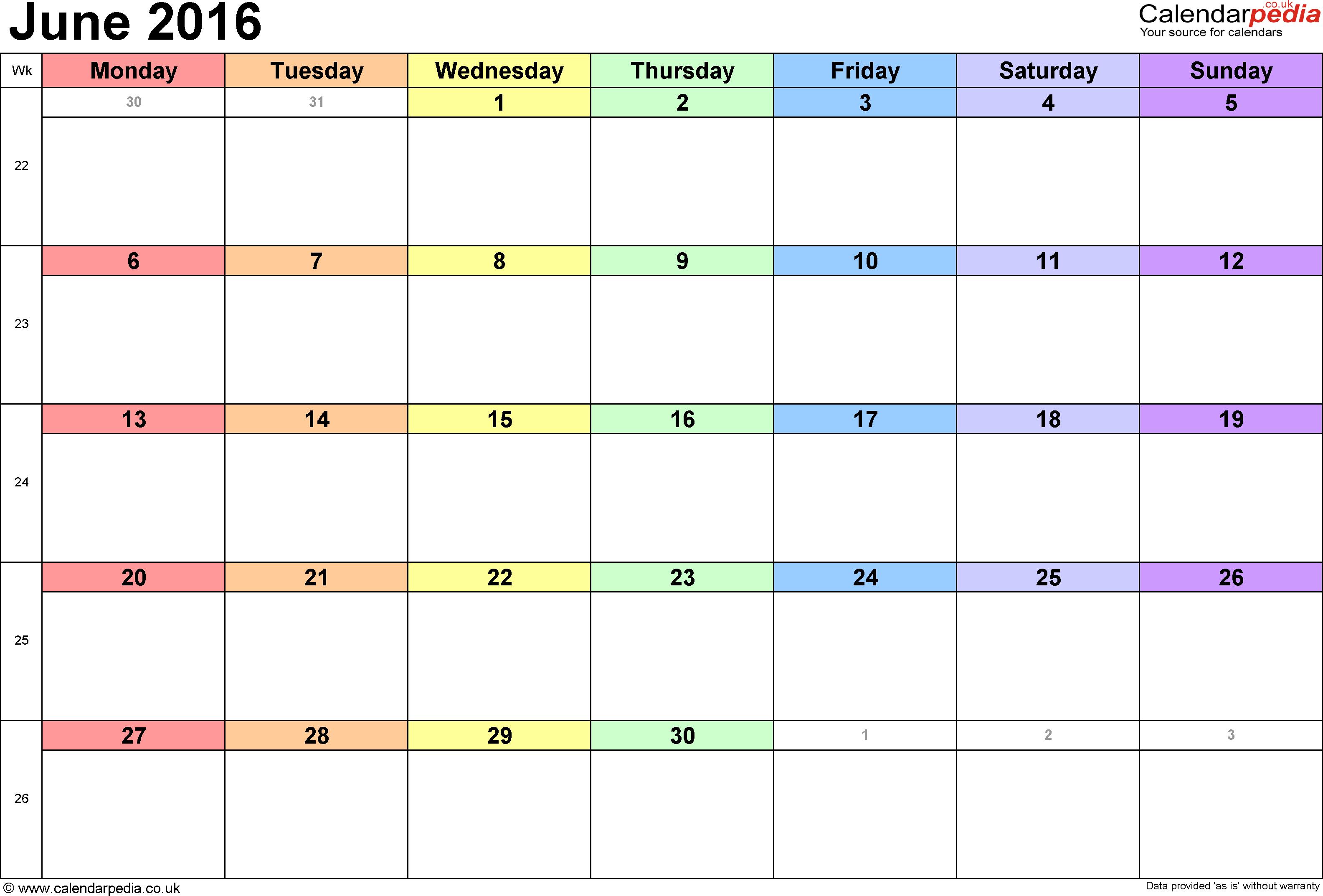Blank june calendar clipart clipart freeuse download 2016 Calendar Clipart clipart freeuse download