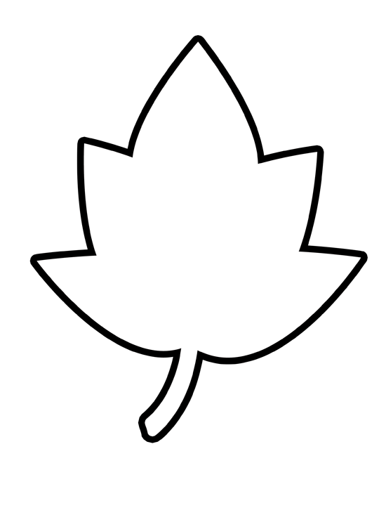 Blank leaf clipart png black and white stock Leaf Clipart Outline | Free download best Leaf Clipart Outline on ... png black and white stock