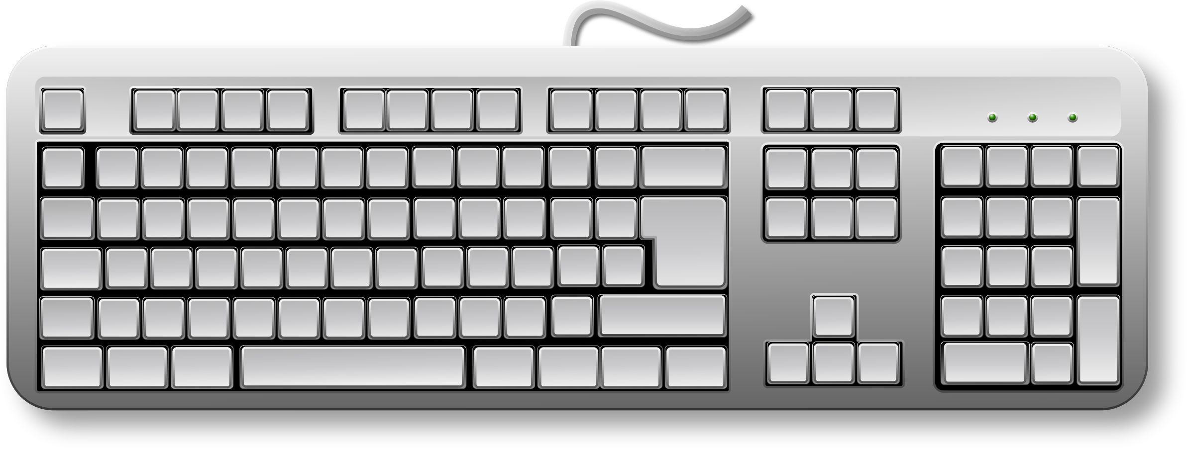 Computer keyboard clipart. Blank key clipartfest of