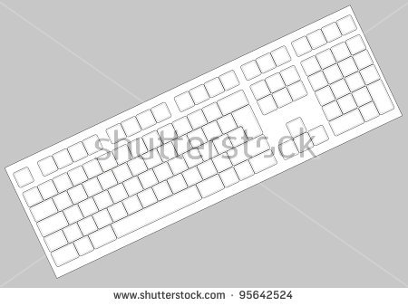 Blank lenovo computer keyboard clipart picture royalty free download Blank Qwerty Keyboard Layout | April Calendar | April Calendar picture royalty free download