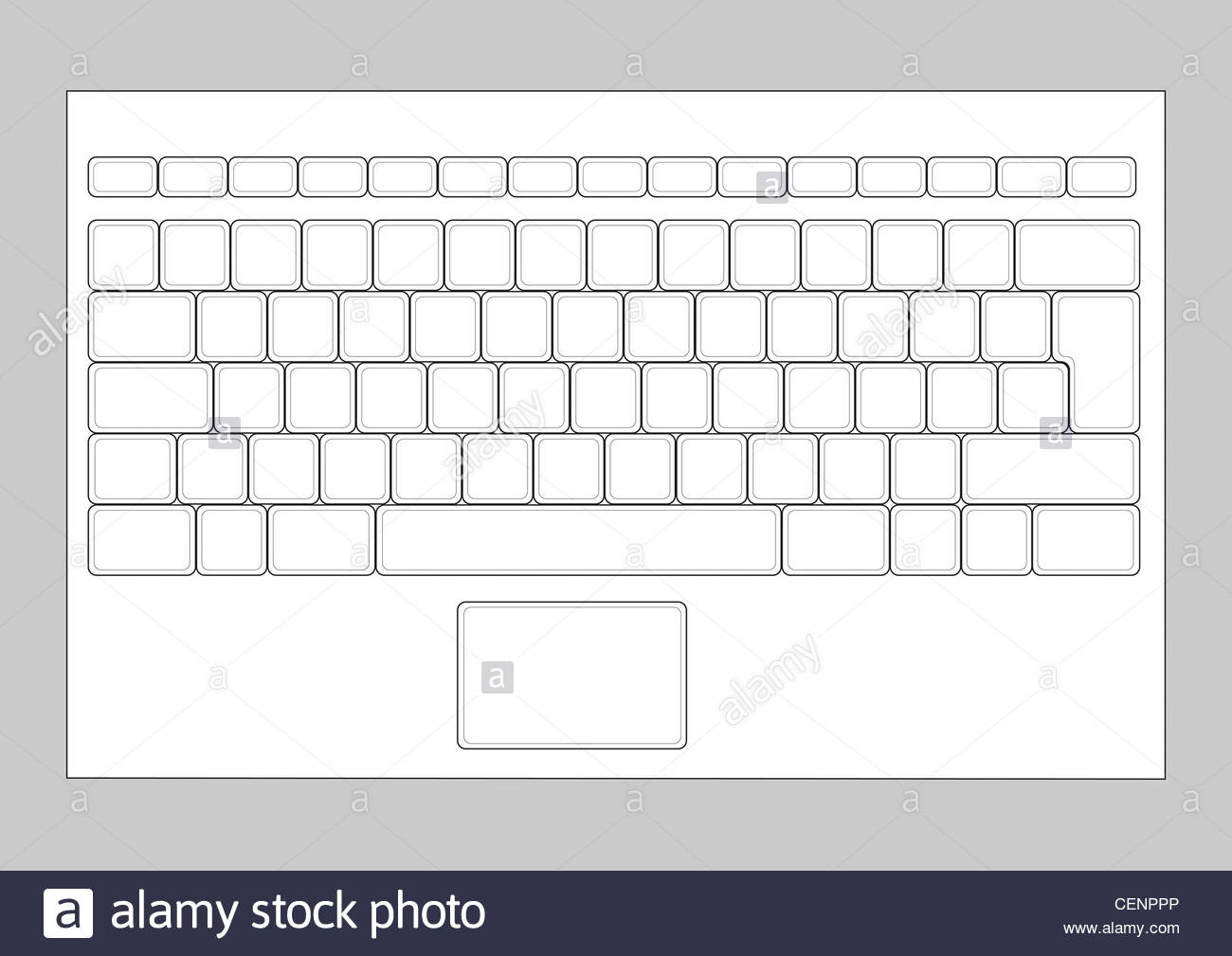 Blank lenovo computer keyboard clipart clip art freeuse Blank Keyboard Layout | April Calendar | April Calendar clip art freeuse