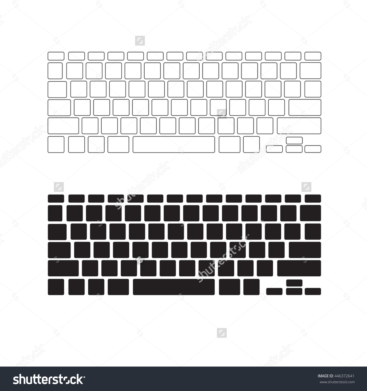 Blank lenovo computer keyboard clipart jpg library download Blank Keyboard Layout | April Calendar | April Calendar jpg library download
