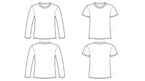 Blank long sleeve shirt clipart banner freeuse library Blank Tshirt Template Clip Art with Long Sleeve | Tshirt template ... banner freeuse library