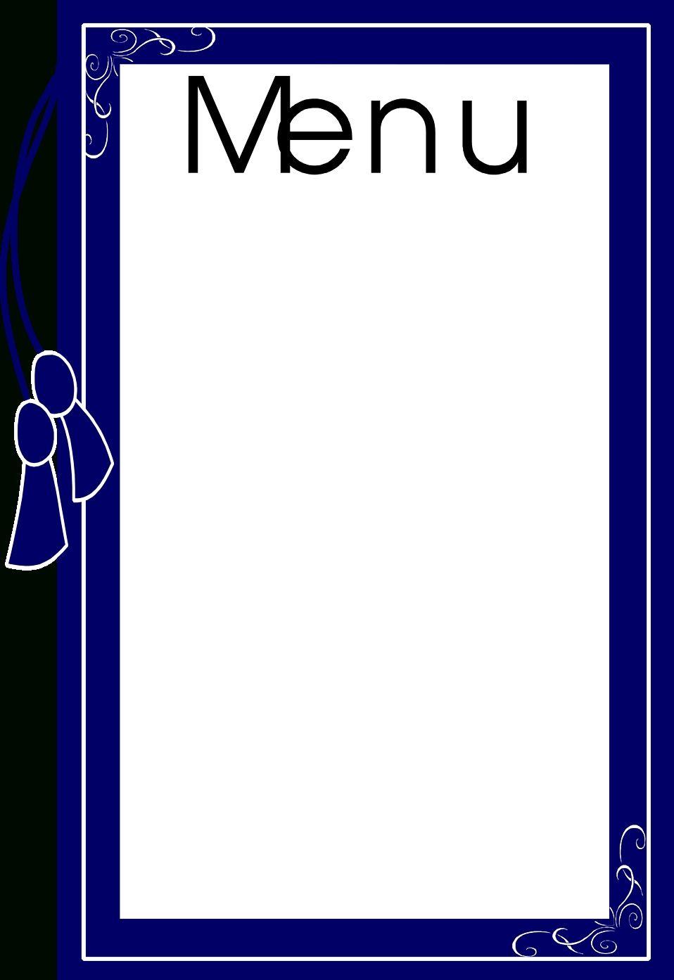 Blank menus clipart graphic free download Awesome Blank Menu Clipart | Baggrunde | Pinterest | Menu And Food ... graphic free download