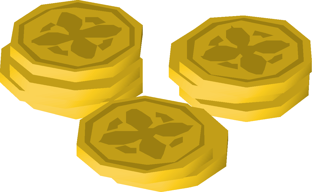 Blank money bags clipart clipart black and white library Coins | Old School RuneScape Wiki | FANDOM powered by Wikia clipart black and white library