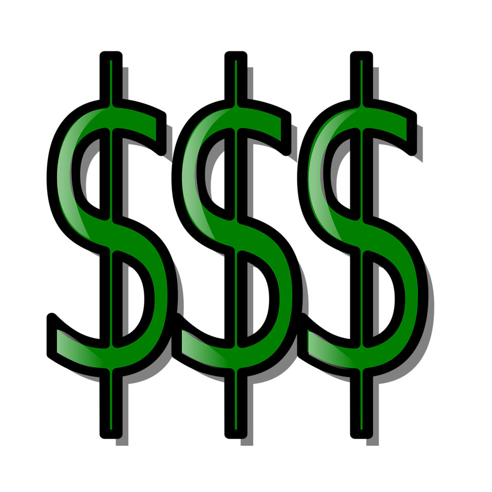 Hand with money clipart jpg transparent Money | Free Stock Photo | Illustration of dollar signs | # 15961 jpg transparent