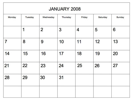 Blank month calendar clipart vector black and white library Clipart blank calendar template - ClipartFox vector black and white library
