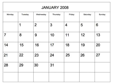 Blank month calendar clipart. Template clipartfox editable