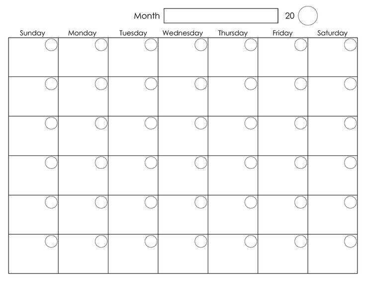 Blank month calendar clipart.  best ideas about