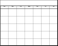 Printable template . Blank month calendar clipart
