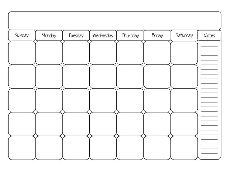 Blank month calendar clipart image transparent library Blank month calendar clipart - ClipartFest image transparent library