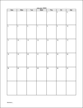 Blank month calendar clipart. Vertical clipartfox for binder