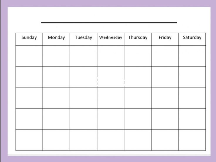 Blank month calendar clipart image free library 17 Best ideas about Blank Calendar Template on Pinterest | Blank ... image free library