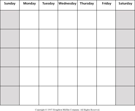 Clipartfest large monthly . Blank month calendar clipart