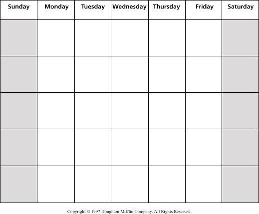 Blank month calendar clipart vector royalty free stock Blank month calendar clipart - ClipartFest vector royalty free stock