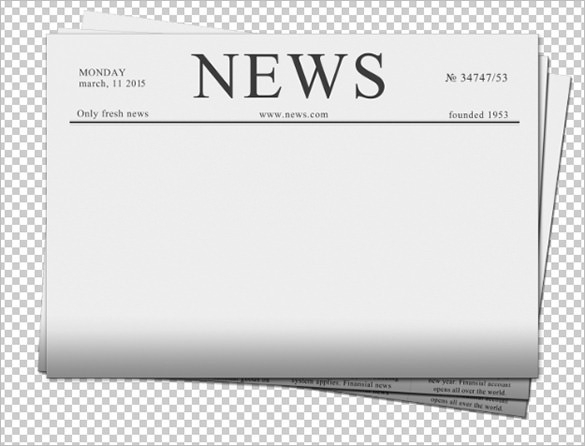 Blank newspaper clipart banner free Newspaper Front Page Blank Template – Ukran.agdiffusion pertaining ... banner free