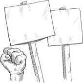 Blank picket sign clipart graphic black and white stock Blank protest signs sketch   Clipart Panda - Free Clipart Images graphic black and white stock