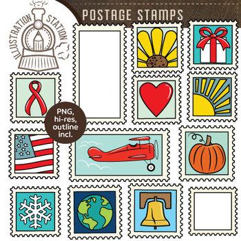 Postal stamp clipart