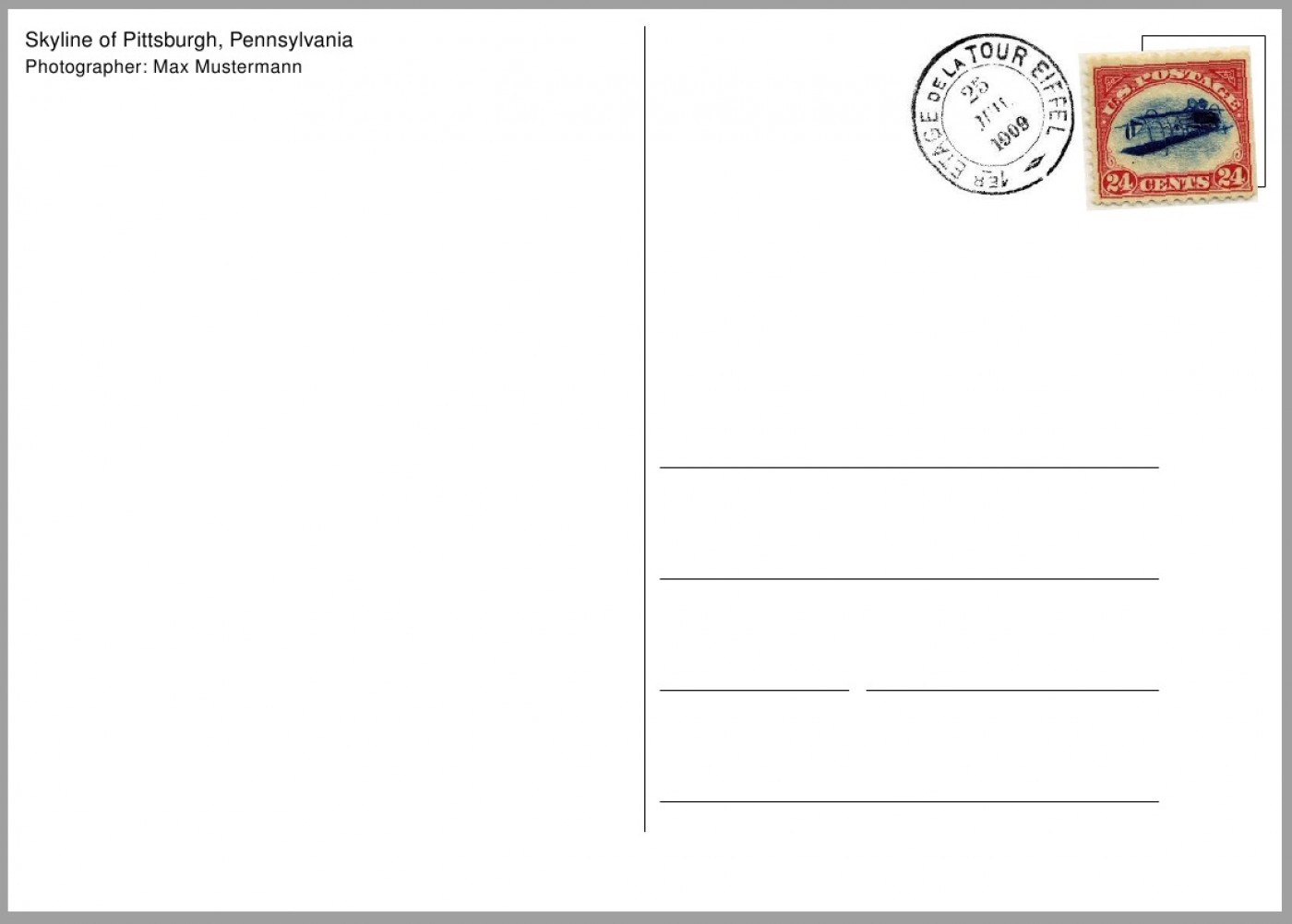 Blank postcard clipart png royalty free 012 Free Printable Postcards Template Postcard Clipart Plain Ideas ... png royalty free