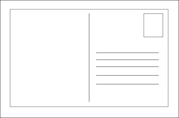 Blank postcard clipart free stock blank-postcard-template …   Templates and Activities   Postcard ... free stock