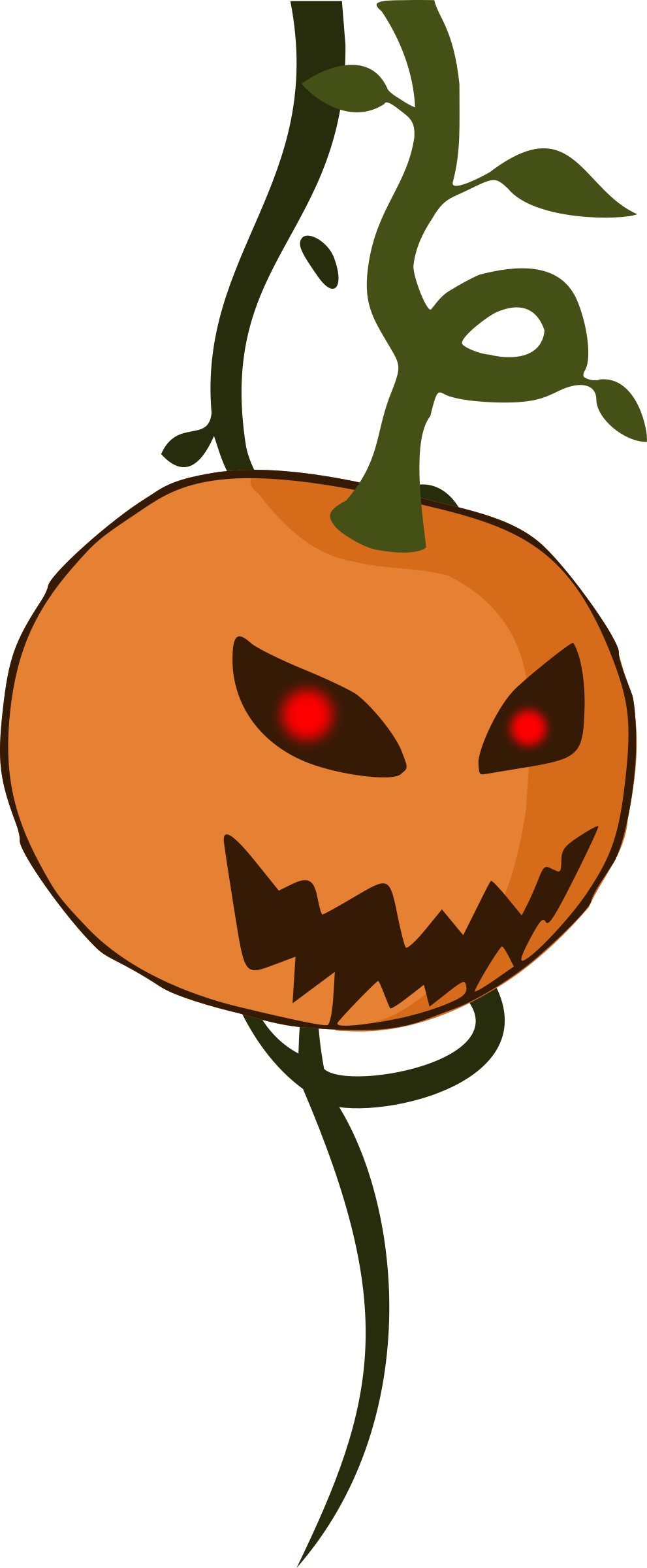 Clipart - Cartoon jack-o'-lantern pumpkin royalty free