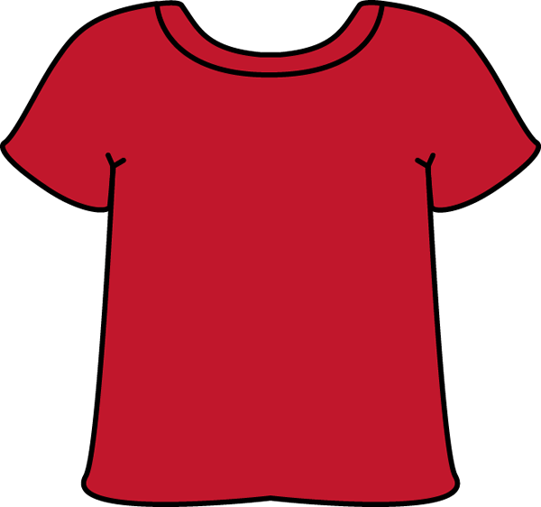 Blank red t shirt clipart picture freeuse T-shirt blank shirt clipart kid - ClipartBarn picture freeuse