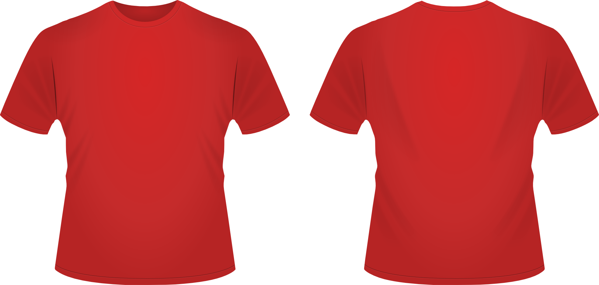 Blank red t shirt clipart jpg royalty free stock Plain Red T Shirt Template - Clip Art Library jpg royalty free stock