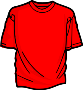 Blank red t shirt clipart clip black and white library Red T-shirt clip art - vector clip art online, royalty free & public ... clip black and white library
