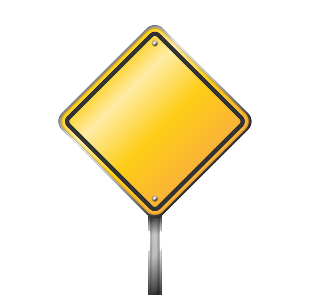 Blank road sign arrow clipart vector transparent library Traffic sign Warning sign Icon - Blank yellow road signs png ... vector transparent library
