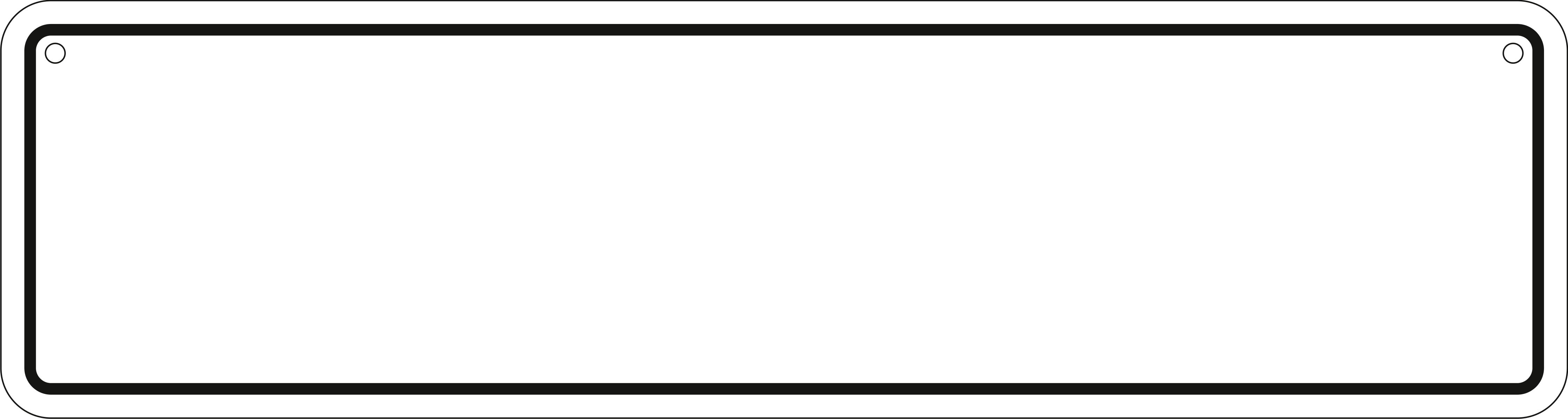 Blank road signs clipart black and white