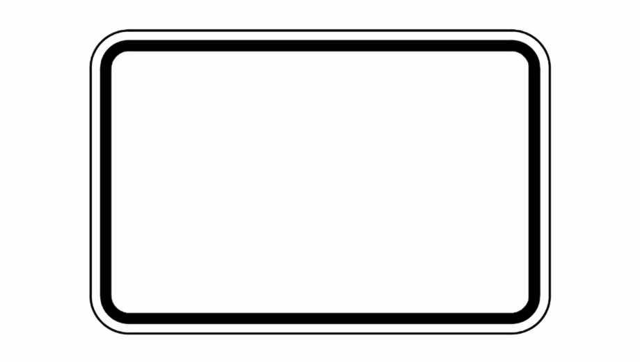 Blank wood sign clipart black and white