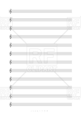 Blank sheet music clipart image download Blank A4 sheet music with treble clef Vector Image #75077 – RFclipart image download