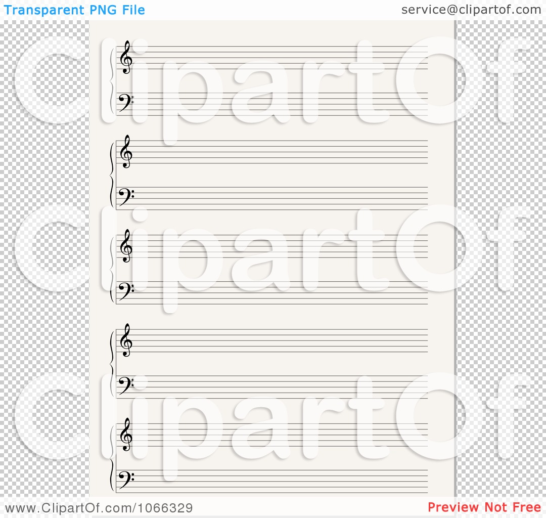 Blank sheet music clipart svg black and white Clipart Blank Sheet Music - Royalty Free Vector Illustration by ... svg black and white