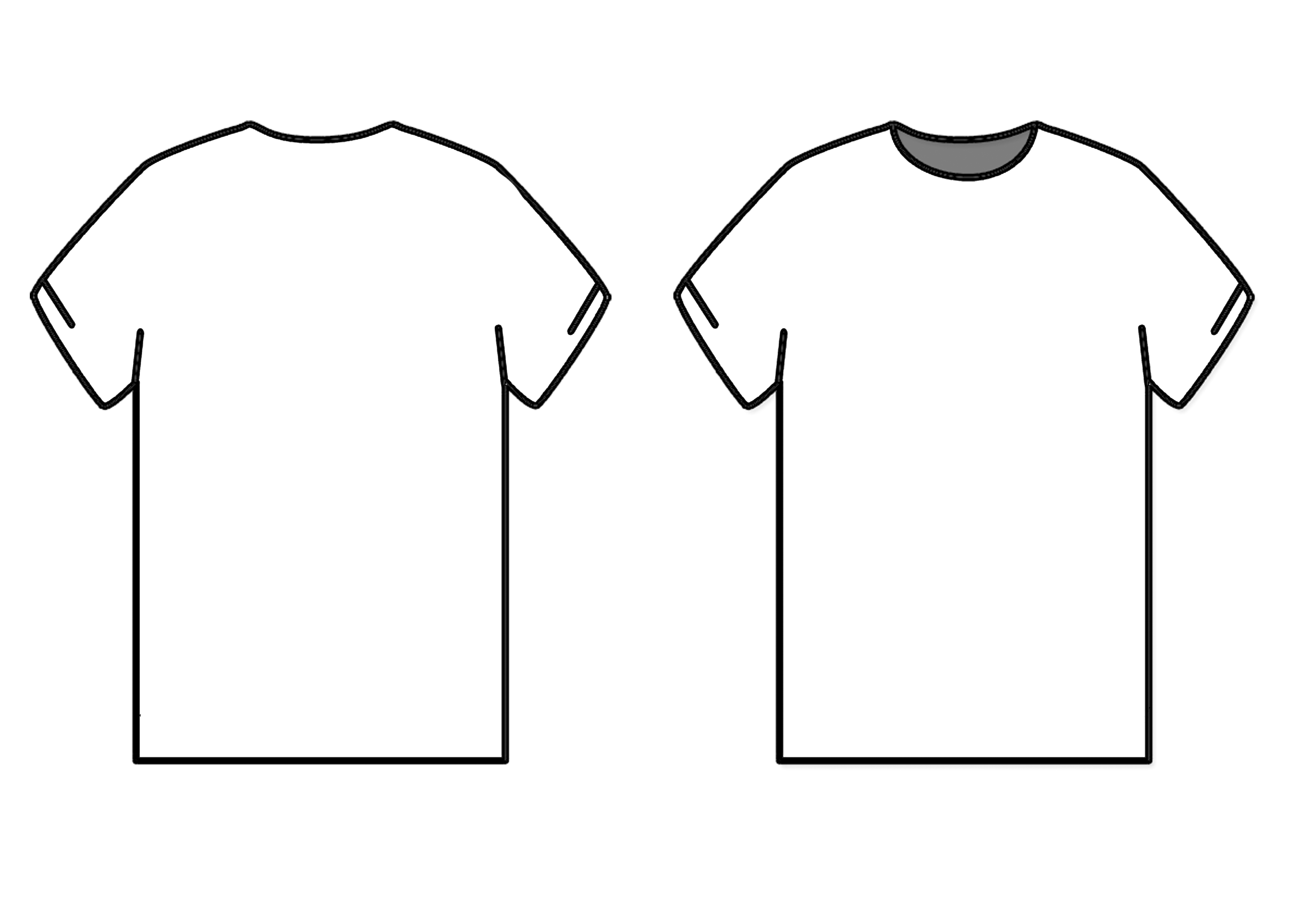 Tshirt mockup clipart graphic library stock Blank T Shirt Outline | Free download best Blank T Shirt Outline on ... graphic library stock