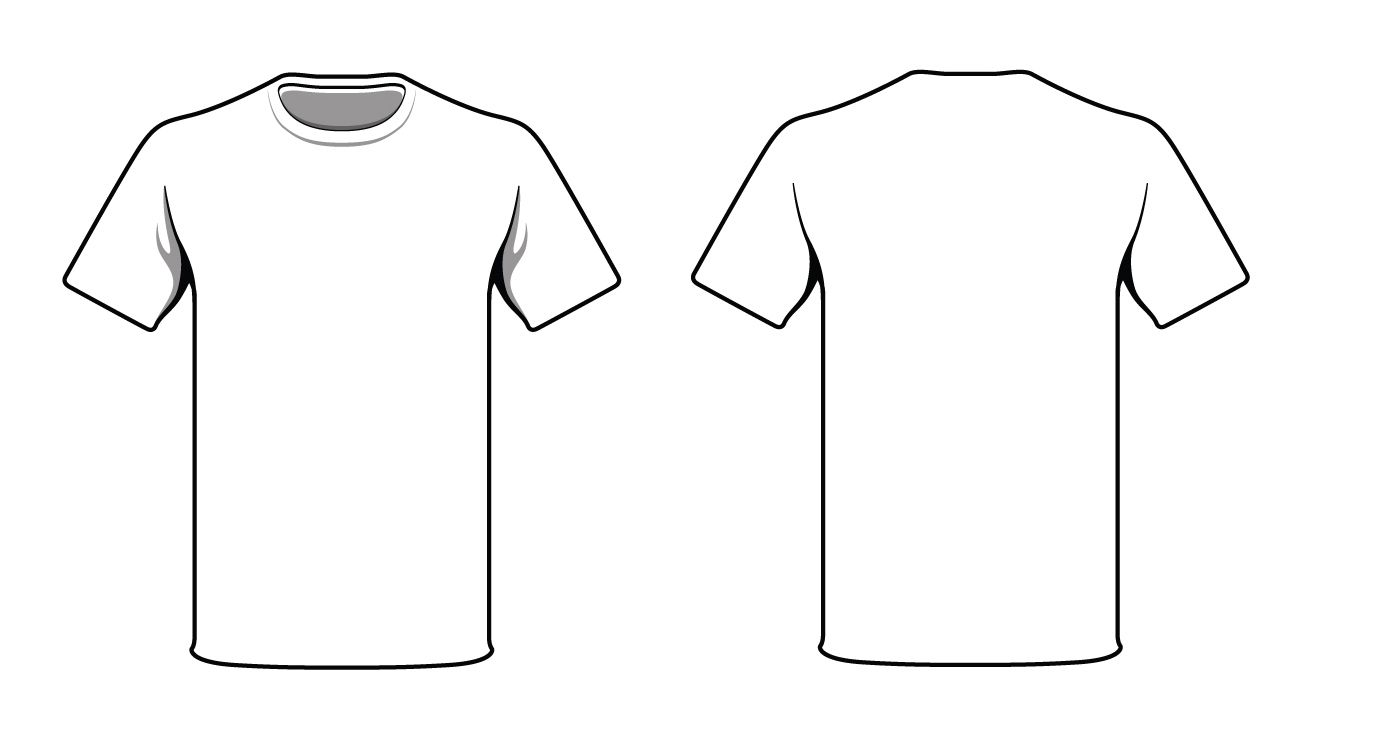 White T-Shirt. Good way to test your logo and t-shirt design prior ... png black and white library