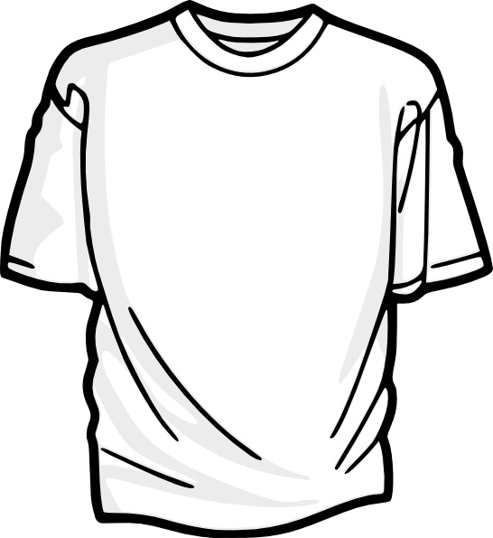 Thsirt clipart graphic black and white library Blank T Shirt clip art Free vector in Open office drawing svg ( .svg ... graphic black and white library