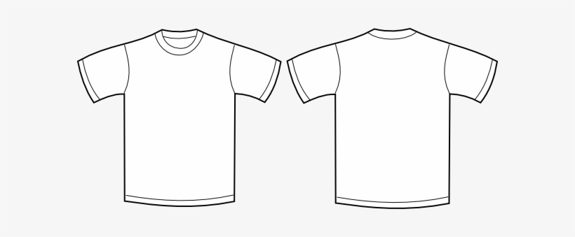 Blank shirt clipart vector library library Shirt Clipart Front Back - Plain Shirt For Printing Transparent PNG ... vector library library