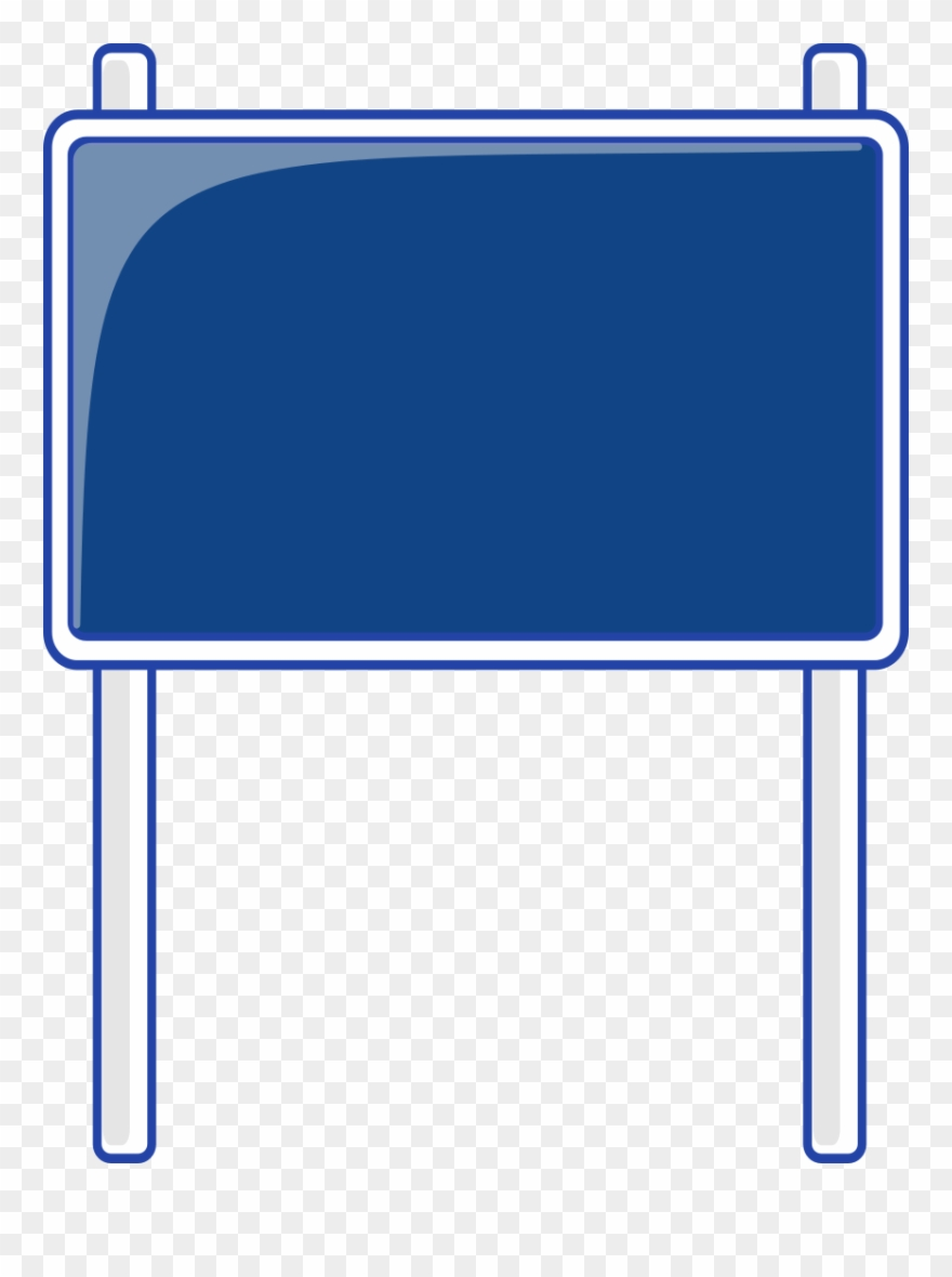 Blank street signs on pole png free clipart vector clip art library download Blank Highway Sign Bing Images Traffic Street Road - Blank Blue Road ... clip art library download