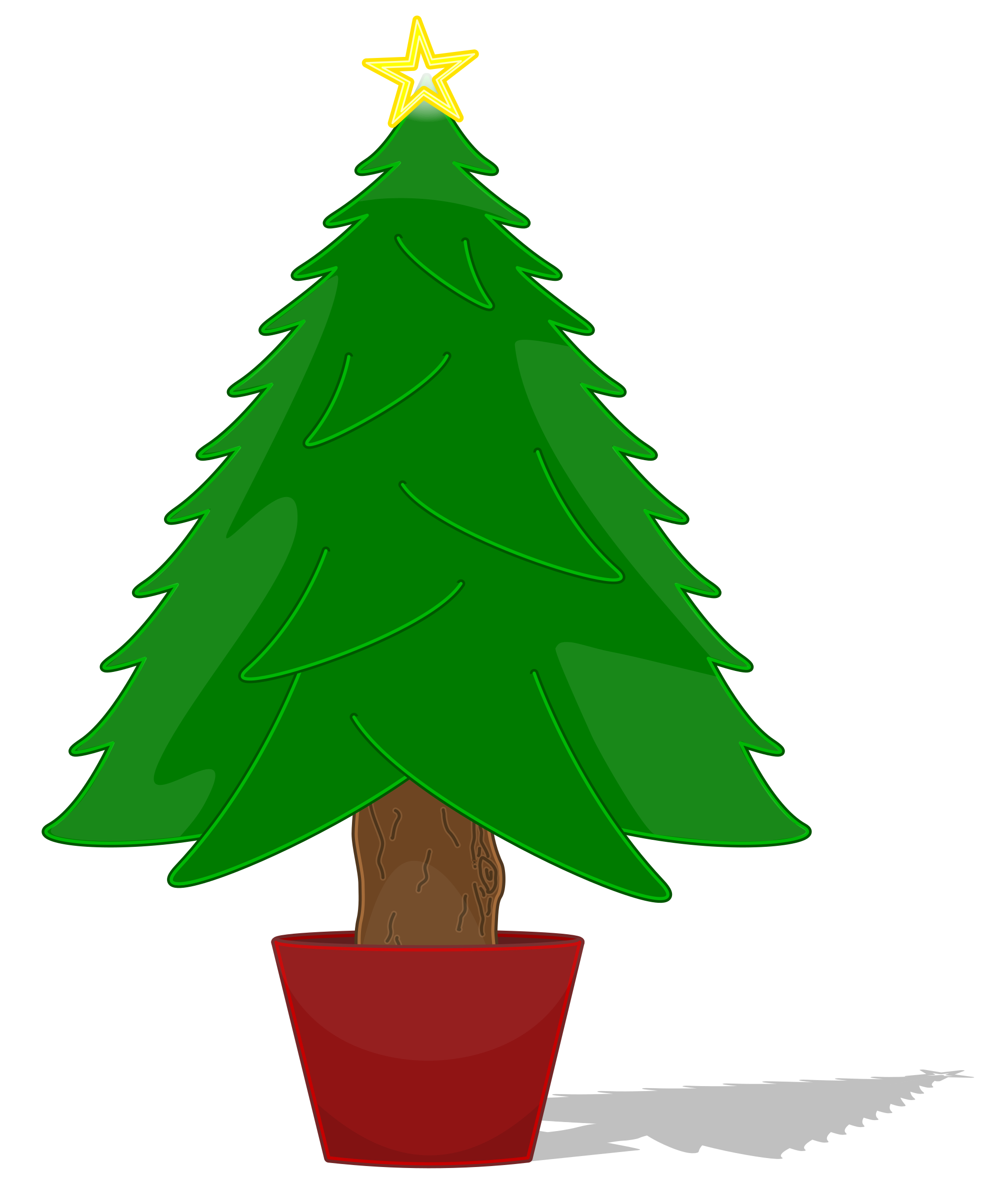 Christmas tree star clipart png freeuse library Clipart - Glossy Christmas Tree png freeuse library