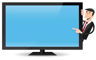 Blank tv screen clipart retro graphic free Flat Screen Tv Free Vector Art - (4,421 Free Downloads) graphic free