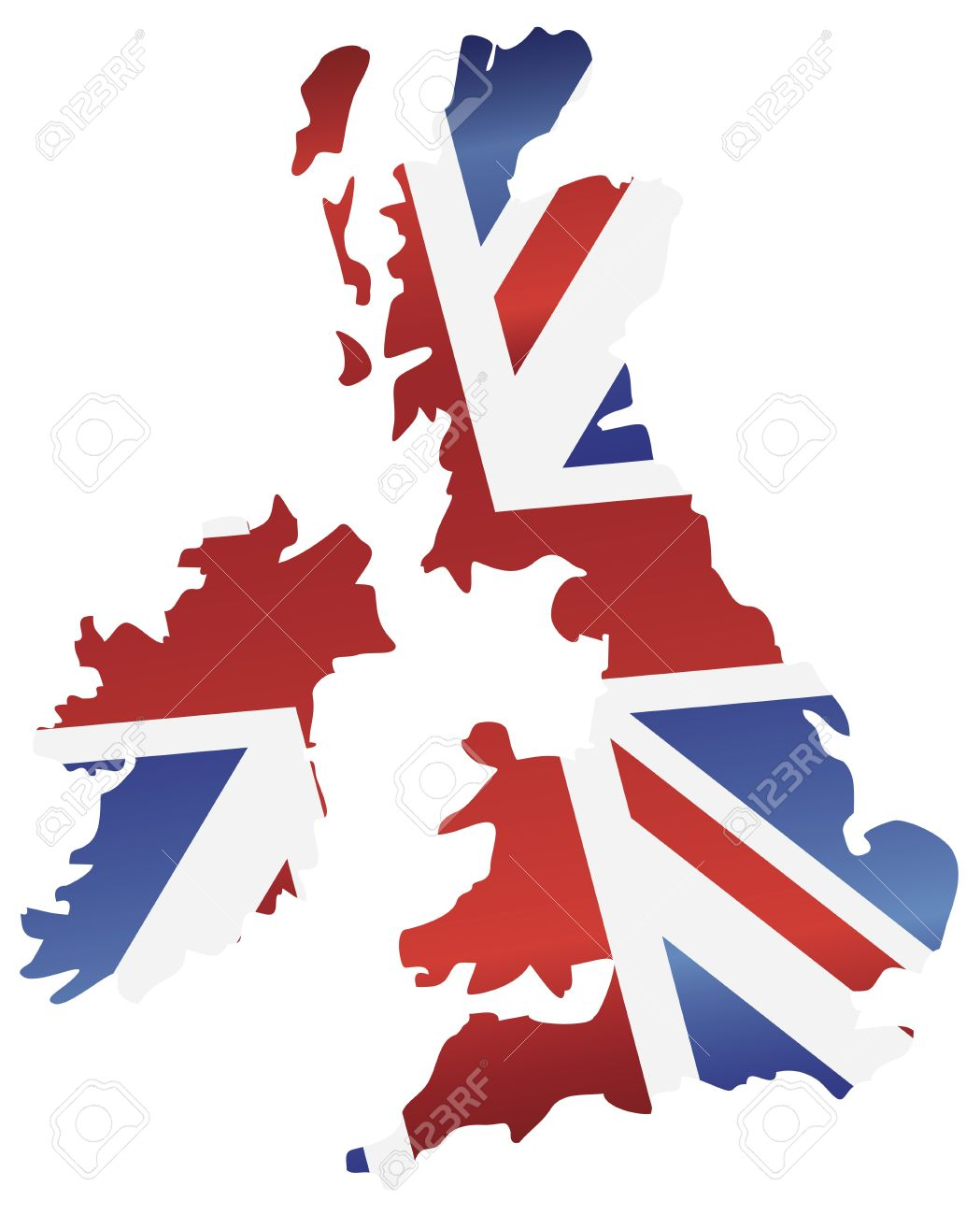 Blank united kingdom clipart map picture stock UK Great Britain Union Jack Flag In Map Silhouette Illustration ... picture stock