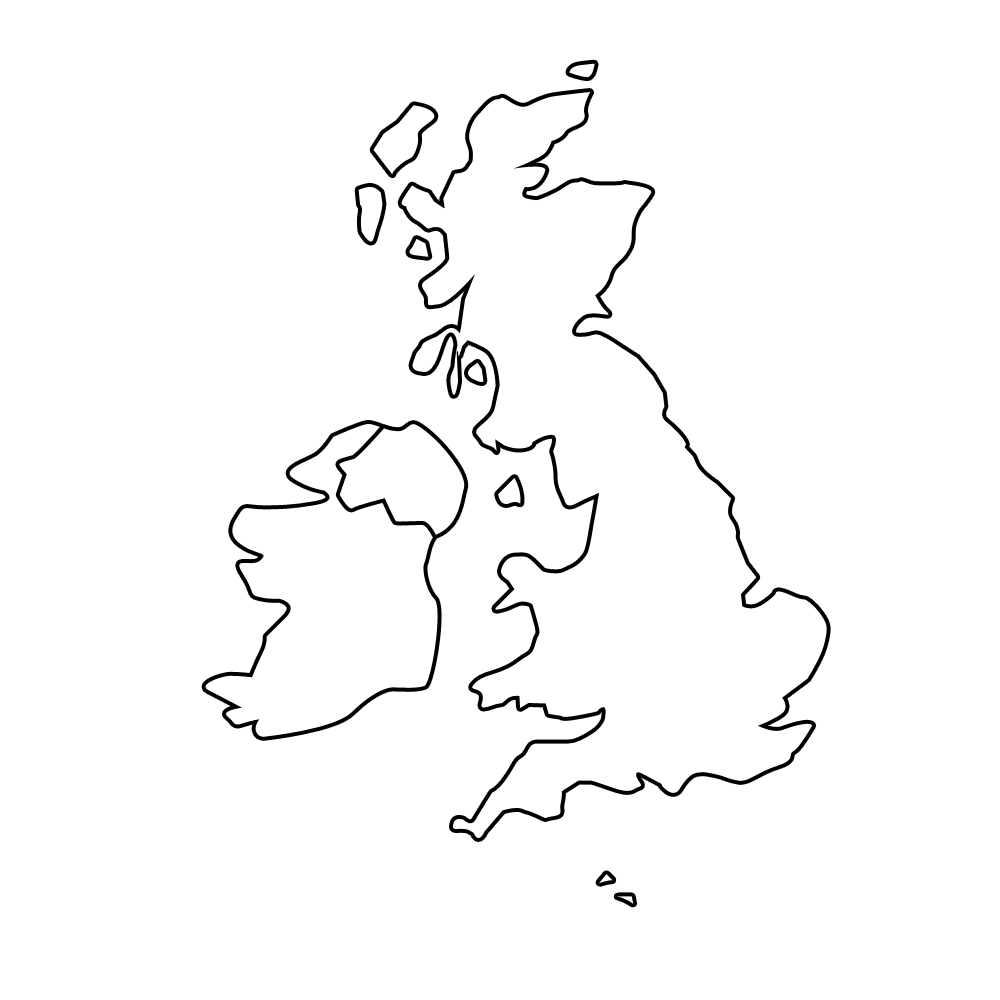 Blank united kingdom clipart map graphic black and white library Blank united kingdom clipart map clikr - ClipartFest graphic black and white library