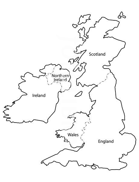 Blank united kingdom clipart map graphic transparent download Blank united kingdom clipart map clikr - ClipartFest graphic transparent download