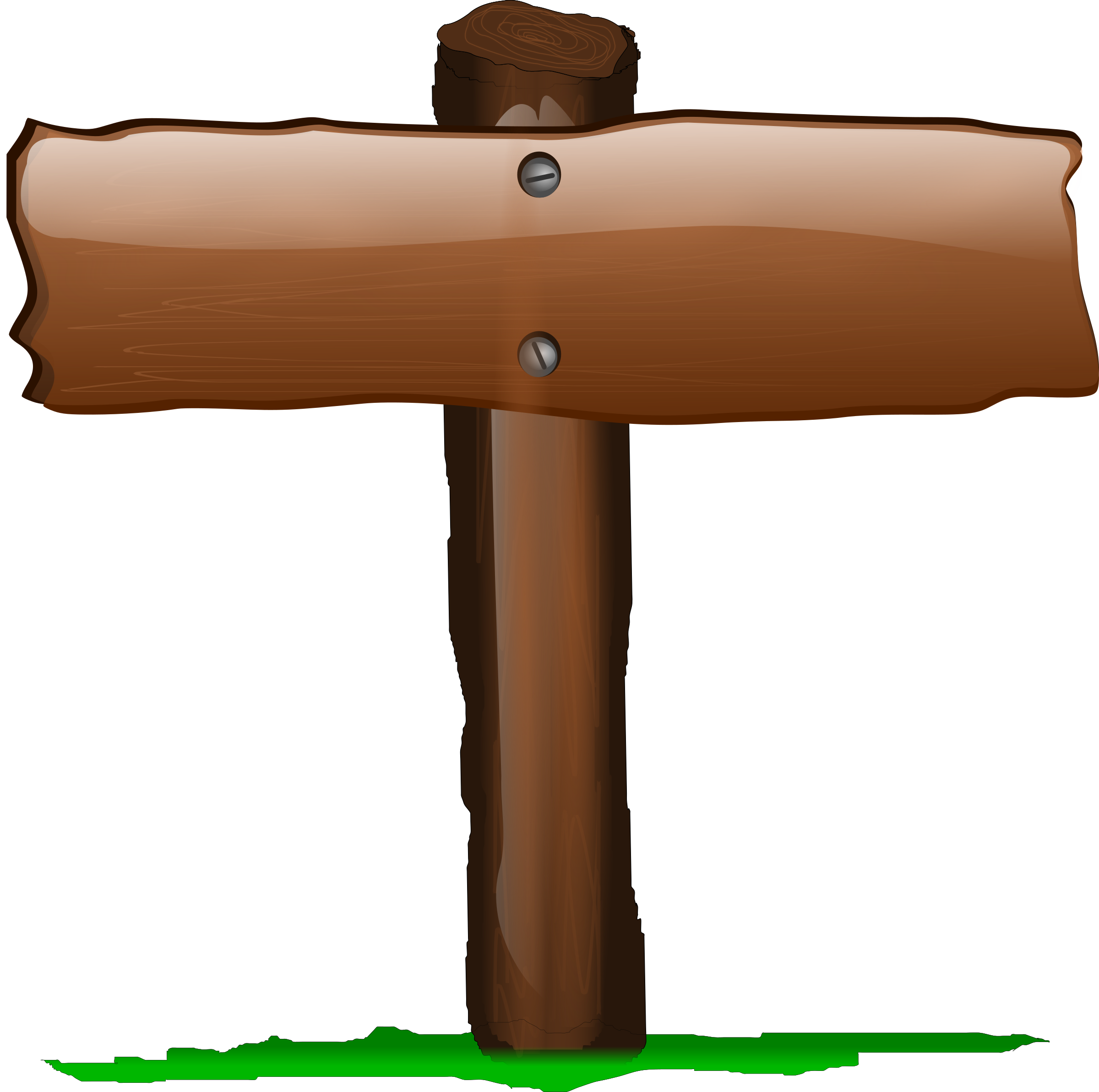 Wooden post clipart