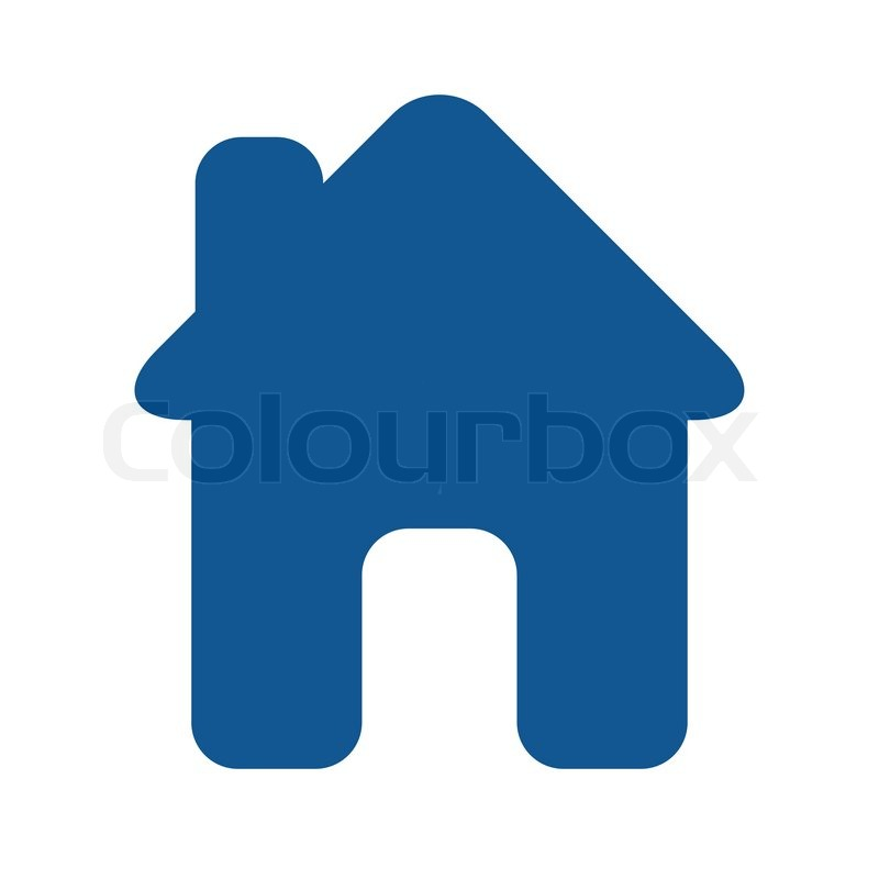 Blaues haus clipart image royalty free stock Icon - haus - blau | Vektorgrafik | Colourbox image royalty free stock