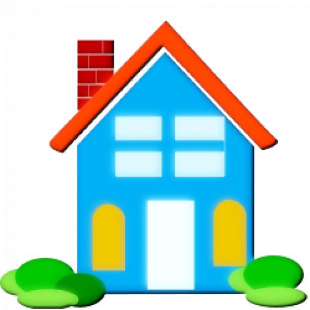 Blaues haus clipart clipart Hause clipart   Download der kostenlosen Vektor clipart