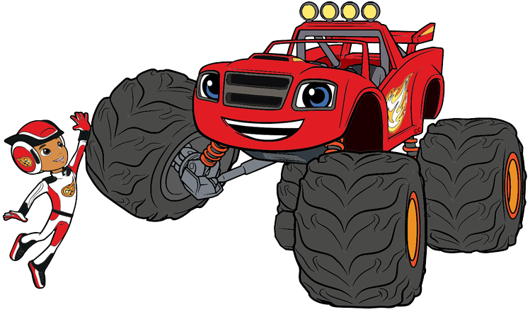 Blaze and monster machines clipart clip free Blaze and the Monster Machines Clip Art | Cartoon Clip Art clip free