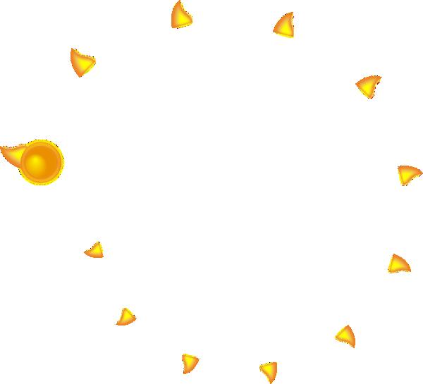 Decorative Sun - One Flame Clip Art at Clker.com - vector clip art ... clipart transparent