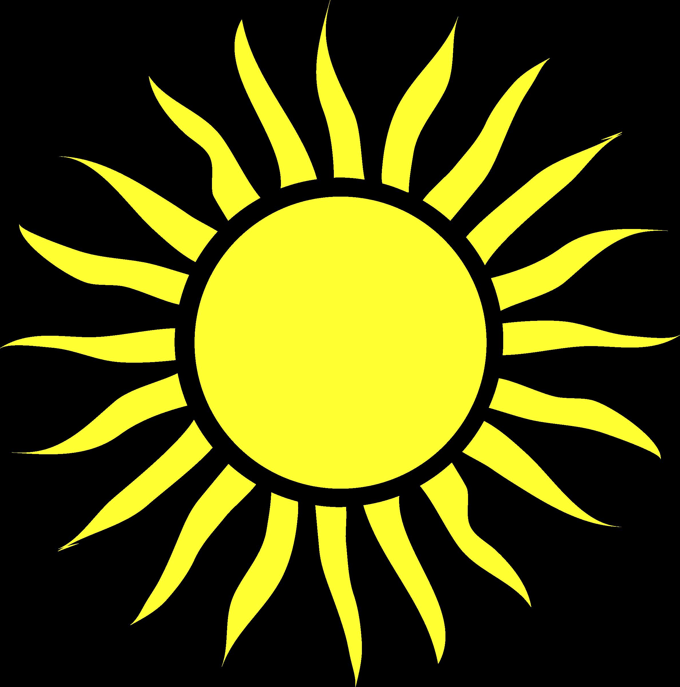 Clipart - Blazing sun 2 library